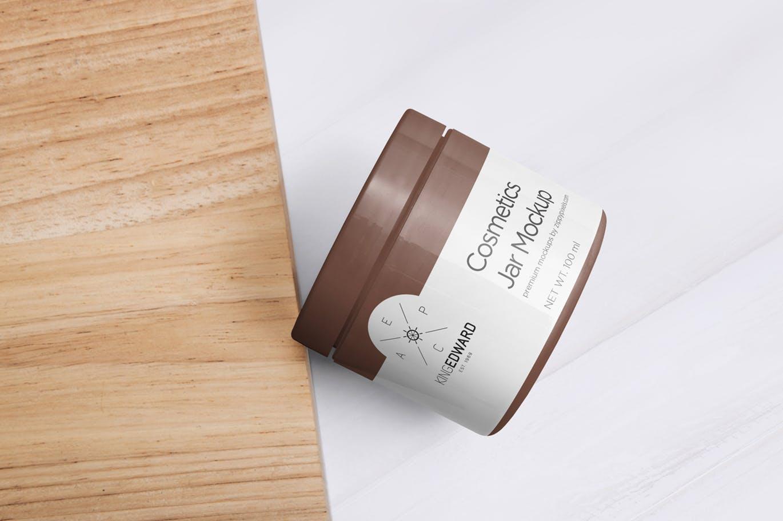 精致化妆品包装瓶智能贴图样机cosmetic-packaging-bottle-jar-mockups