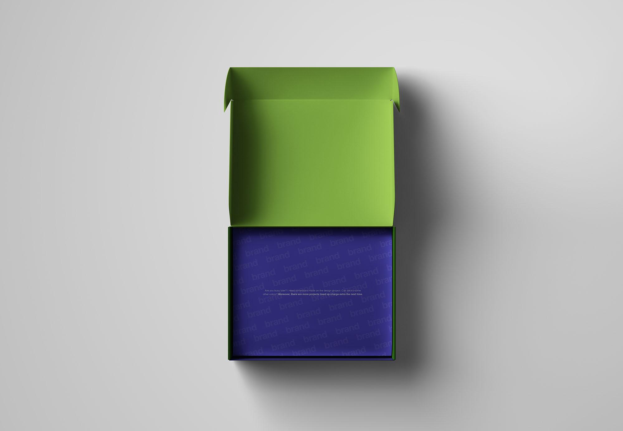 高级包装盒样机模型展示mockups