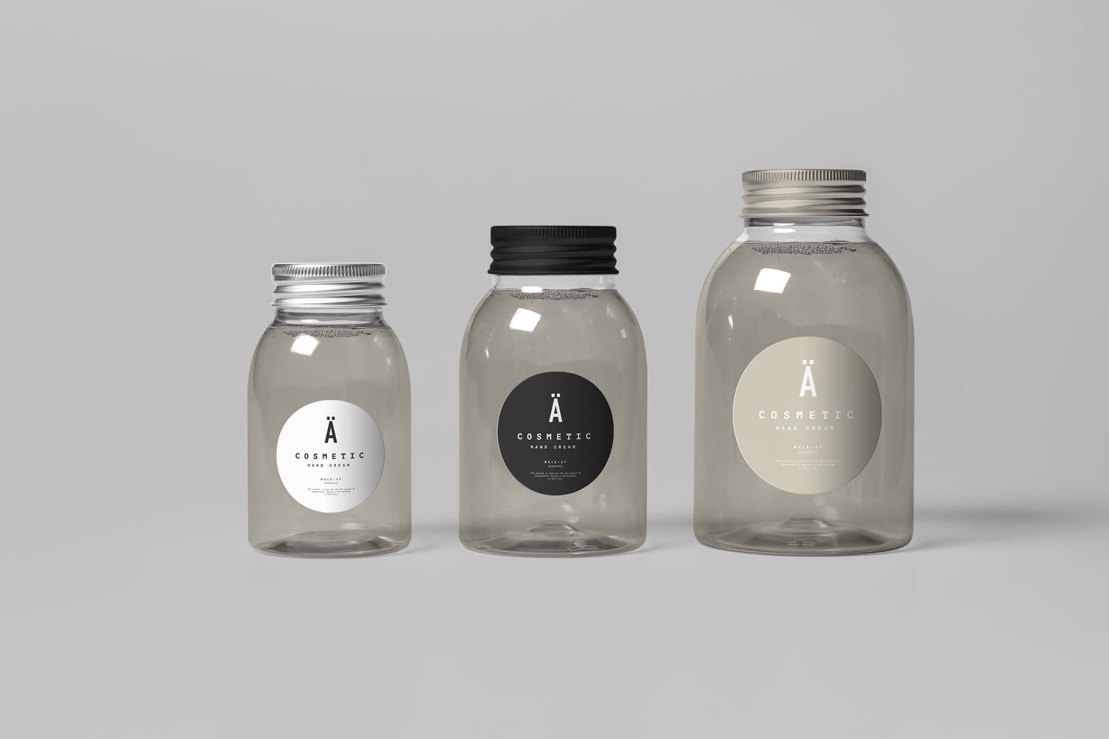 洗化用品品牌包装场景样机玻璃罐Cosmetic Mock-up 3