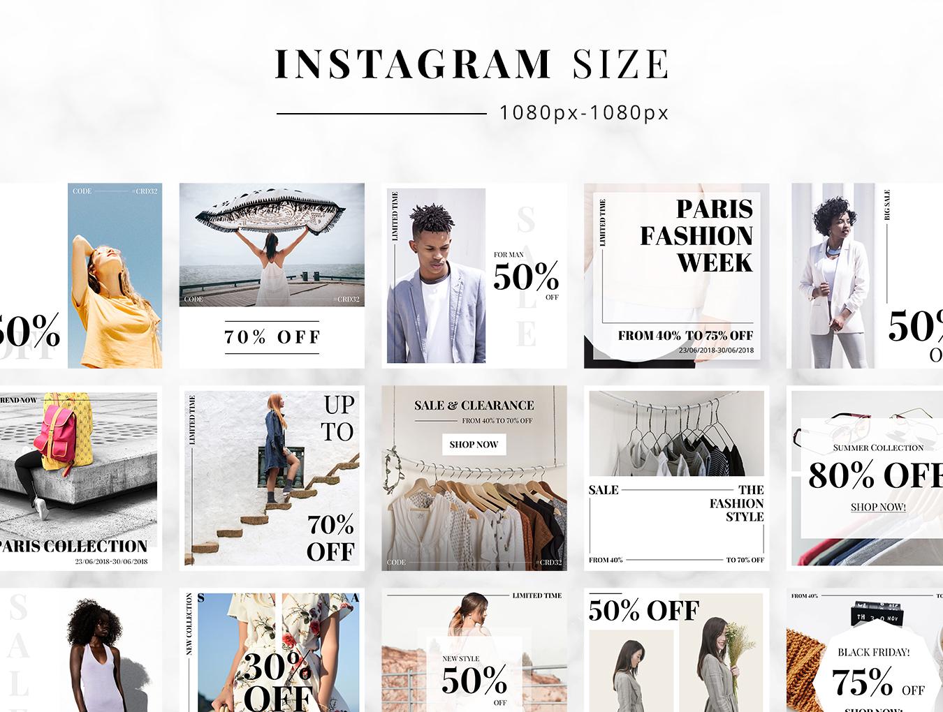 一款现代简约风格服装购物行业UI套件 Bee Fashion Social Media