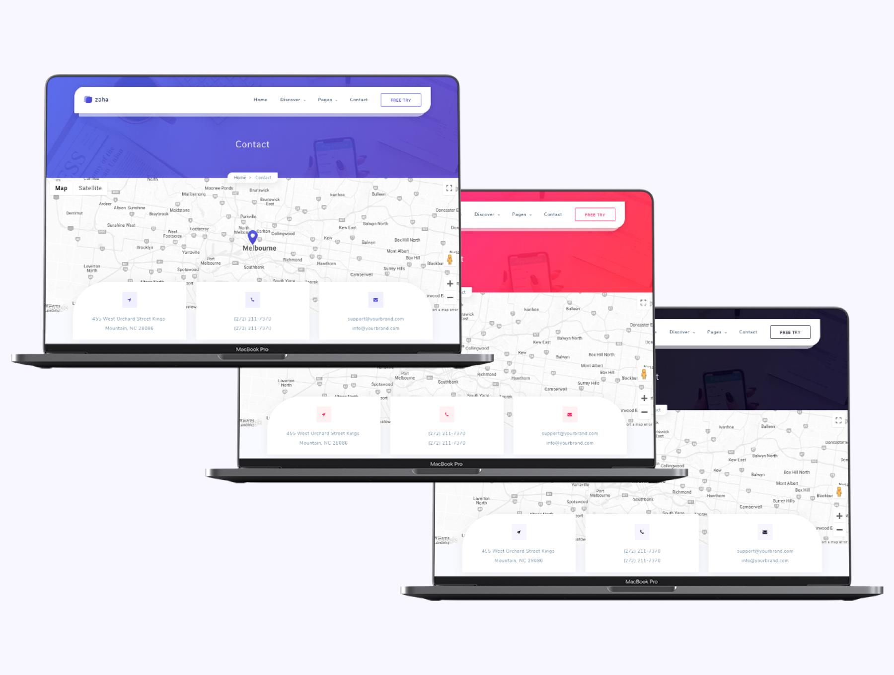 高质量代理和SaaS平台web网页模板ui素材Zaha - Agency and SaaS HTML5 Template