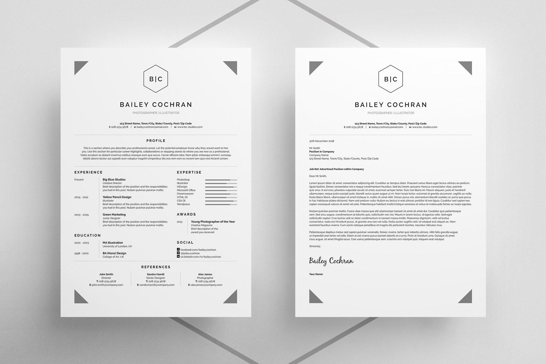 职场商业简历模板展示ResumeCV-Bailey
