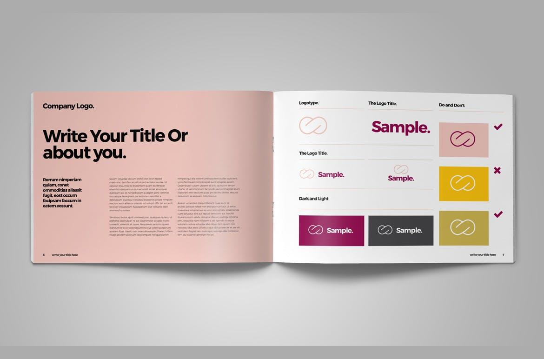 企业品牌手册识别系统模板素材Brand Guideline
