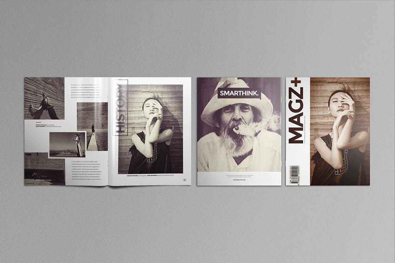 女性主题时尚杂志样机模板展示样机US Letter Brochure Mockups