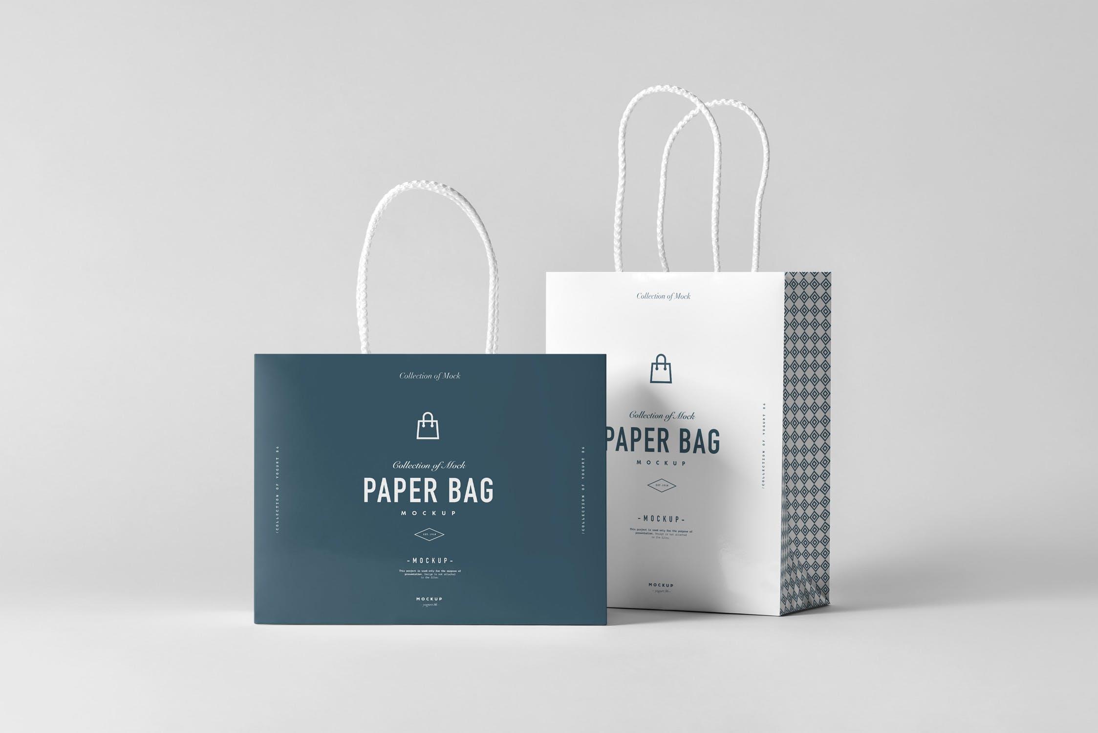 手提袋牛皮纸购物样机素材    智能样机贴图模板展示Paper Bag Mock-up 2