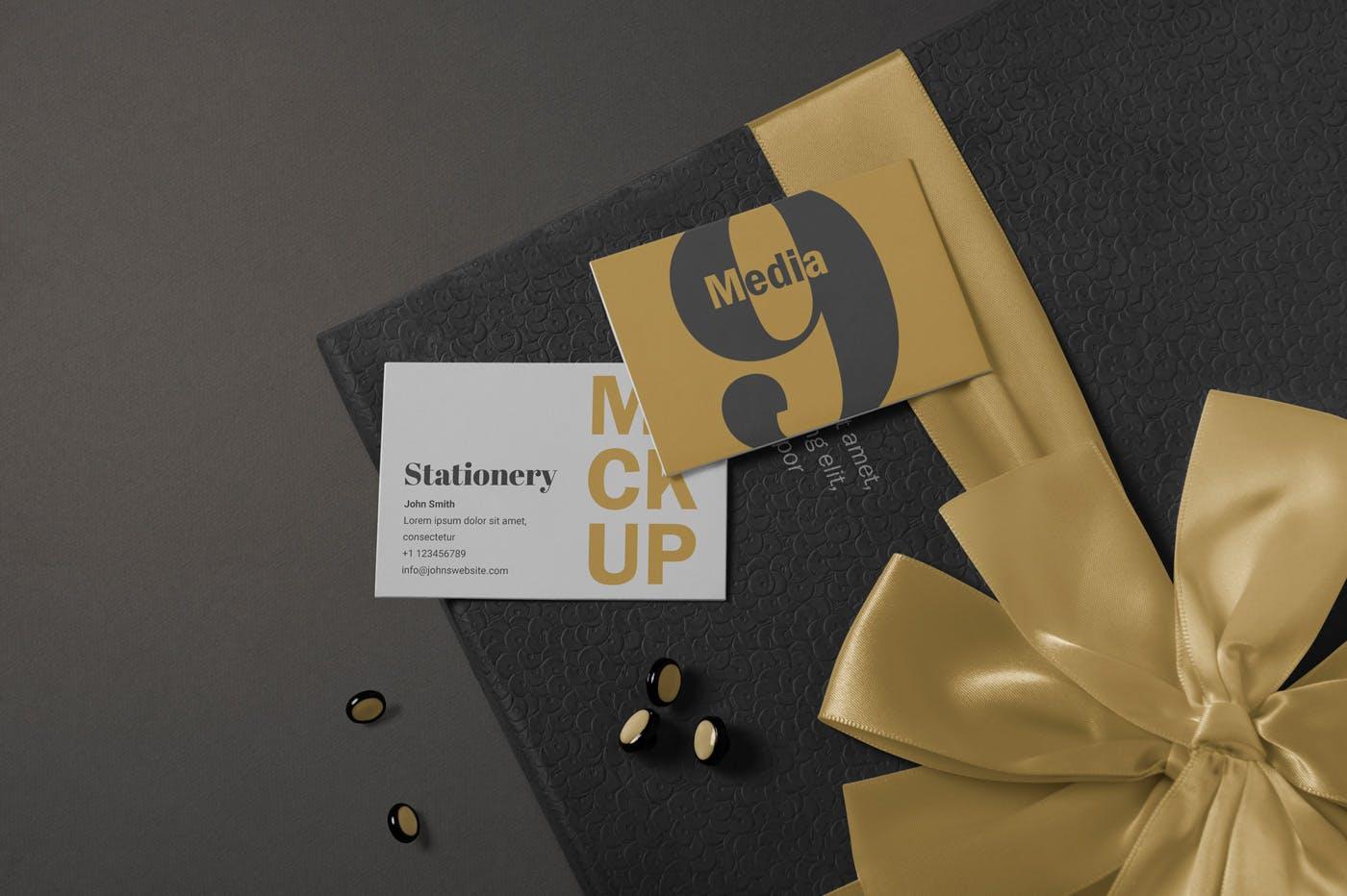 高端精致品牌VI样机展示模板素材Letterhead & Business Card Mockups