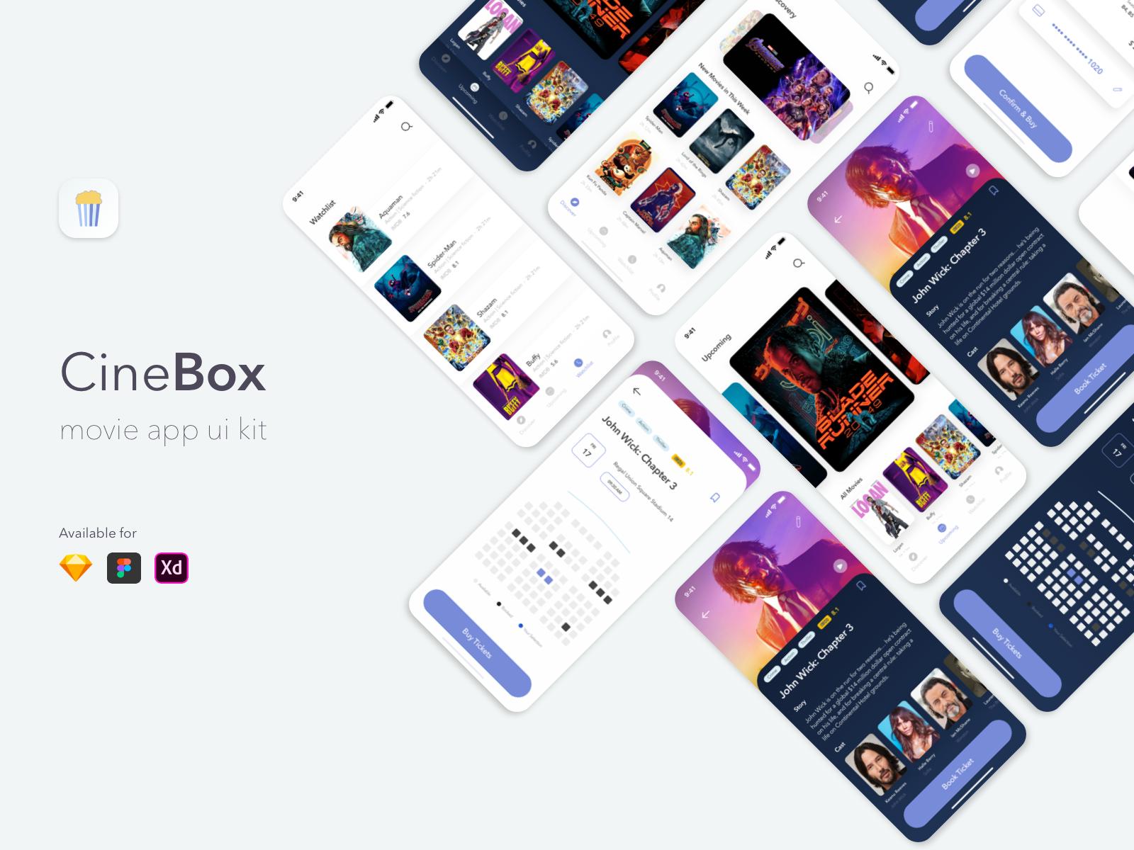 漂亮的电影/视频应用APP  CineBox Movie App UI&UX