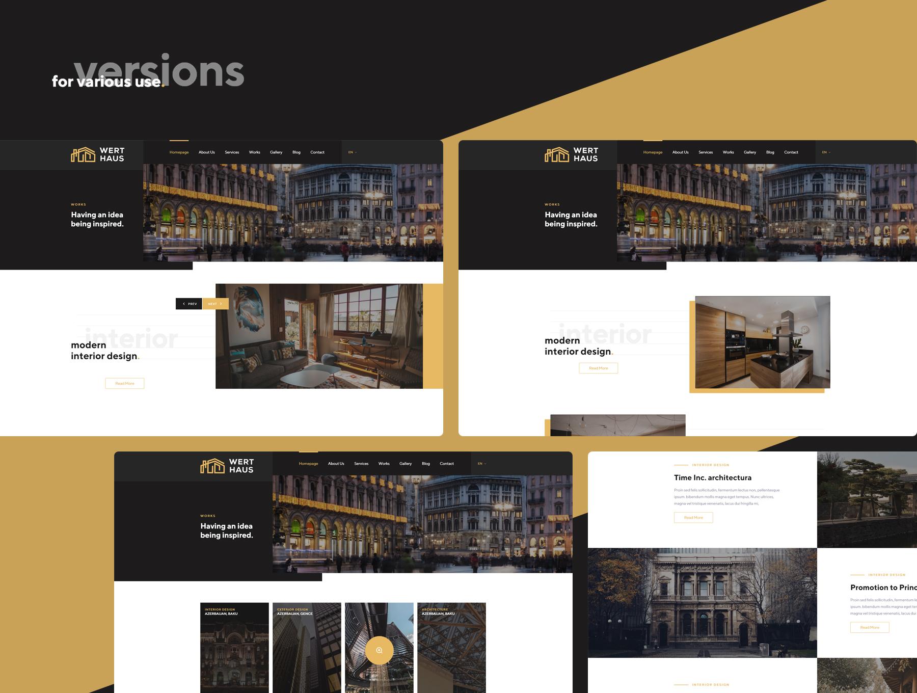 生活家居类APP界面展示Werthaus Architecture UI Kit