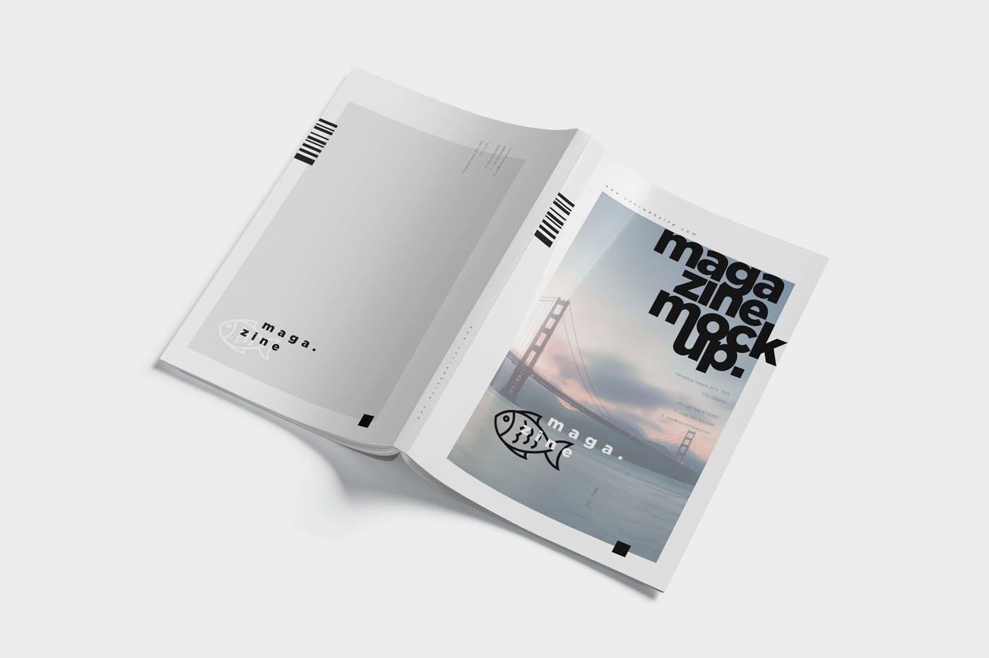 时尚杂志智能贴图样机素材  模板样机 Magazine Spread Mockups插图(3)