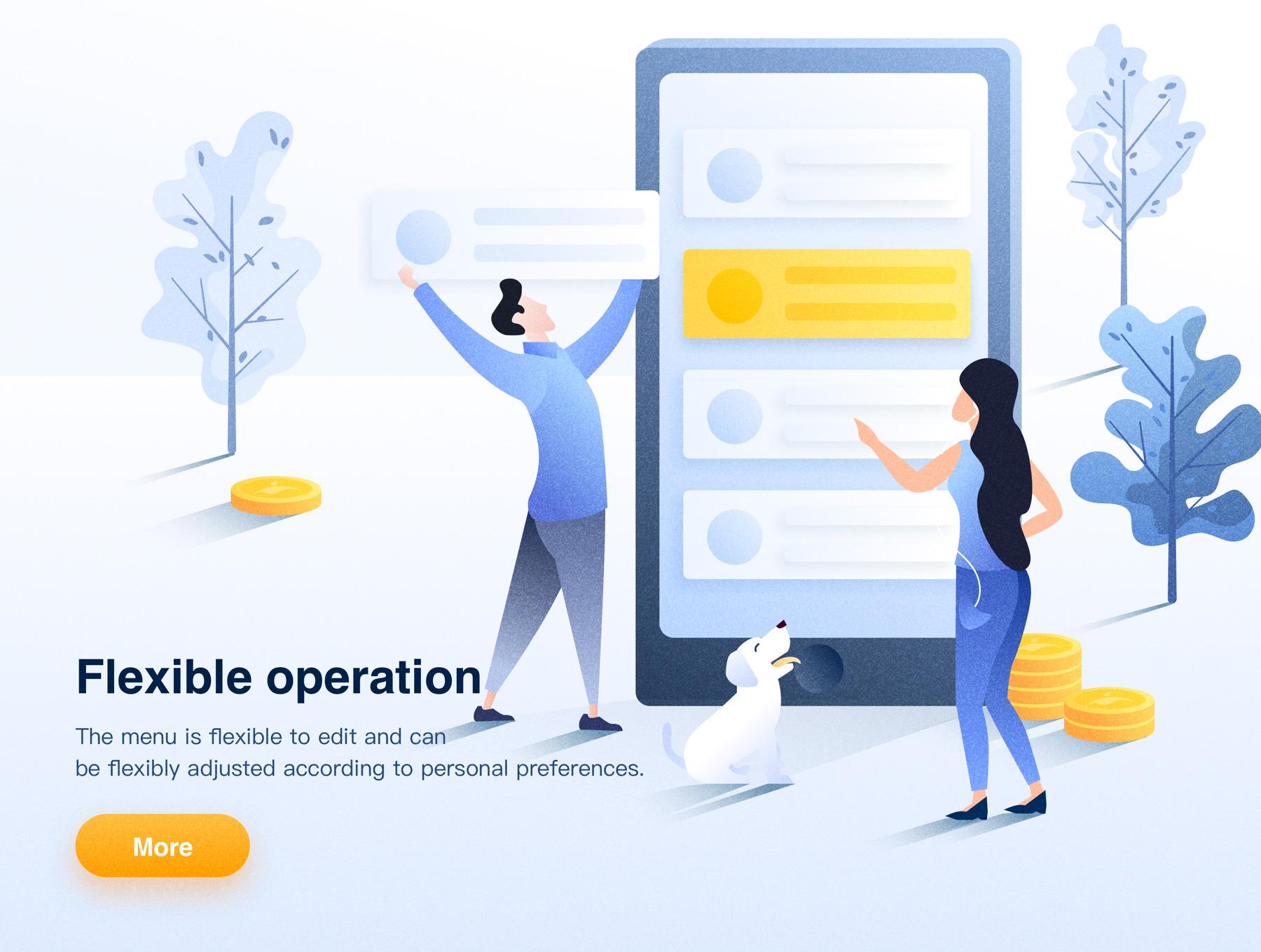 矢量插图卡通人物概念插图 web端噪点手绘APP空状态设计Business Concept Illustrations(1)
