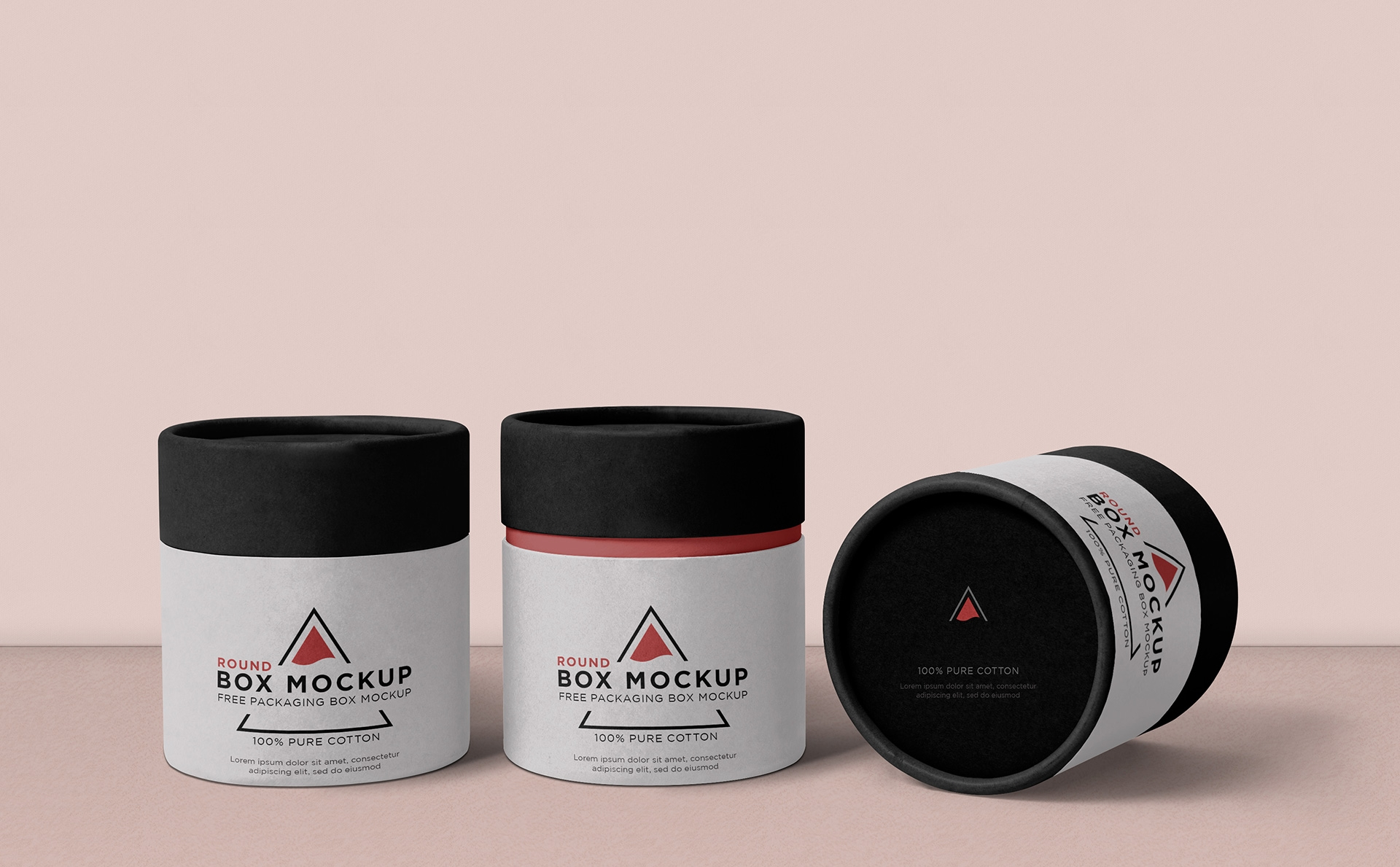 圆形包装盒样机  包装样机   素材291-cylindrical-cardboard-box-mockup-free