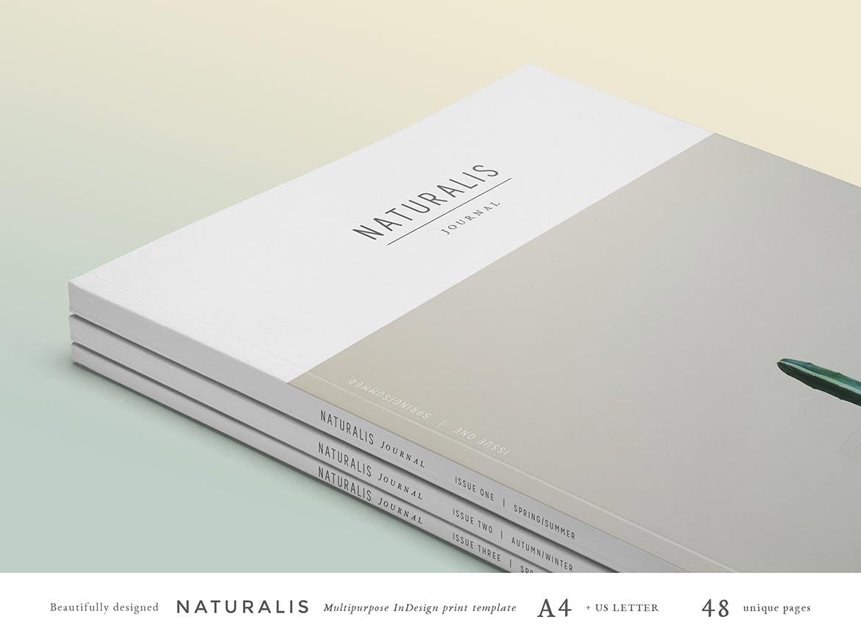 种植绿植花草类画册杂志模板展示效果NATURALIS Lookbook / Magazine