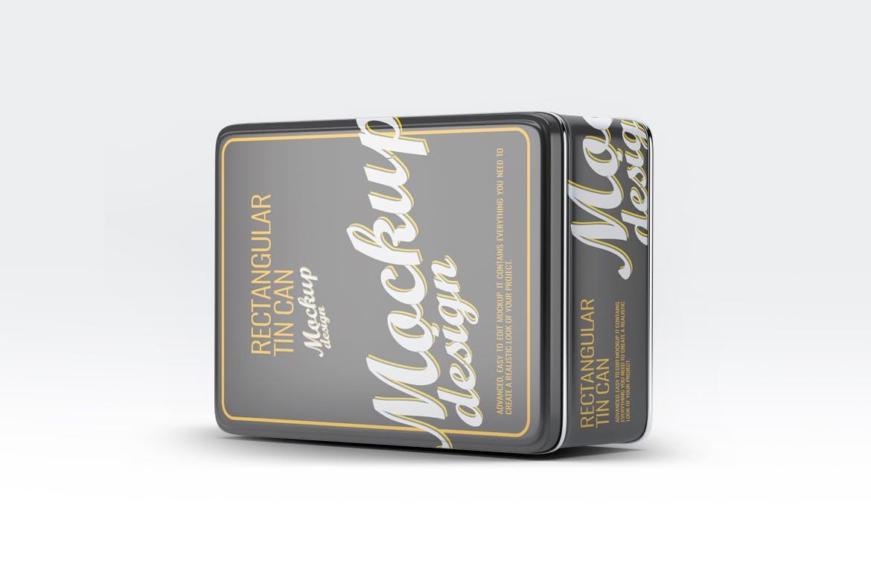 食品美食锡罐包装罐样机样机模板展示效果Tin Can Mock-Up