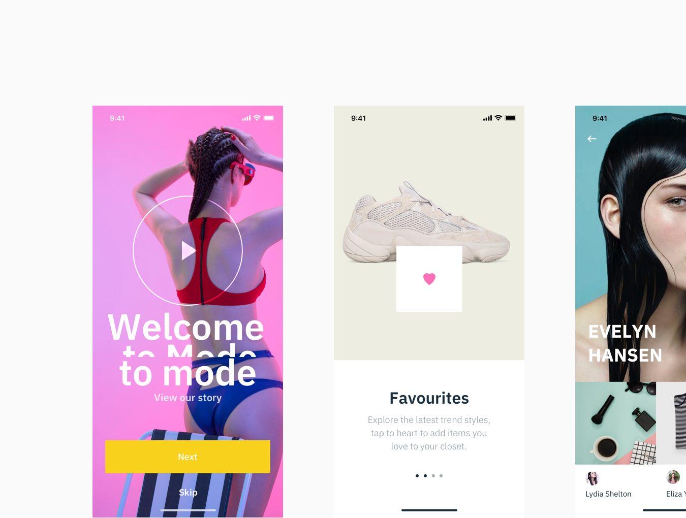 时尚现代简约风格电商模特购物行业APP Mode UI