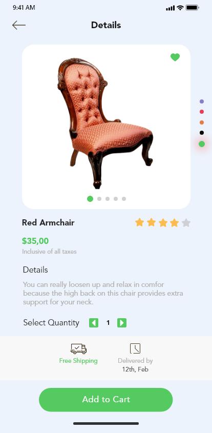 一款家具行业APP Furniture App Concept