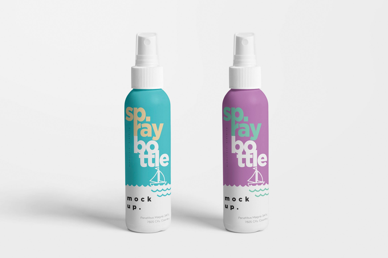 双色塑料喷雾瓶样机Plastic Spray Bottle Mockups