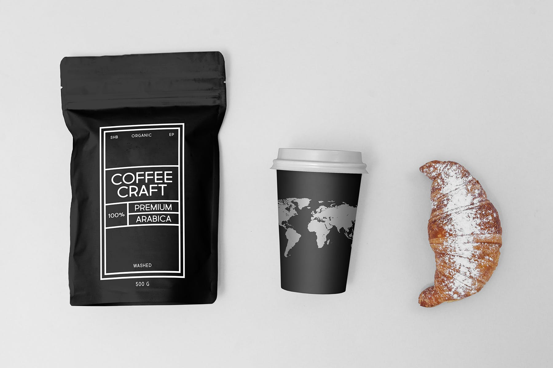 高端品牌VI咖啡工艺场景样机面包样机展示效果Coffee Mock-Up's Craft Style