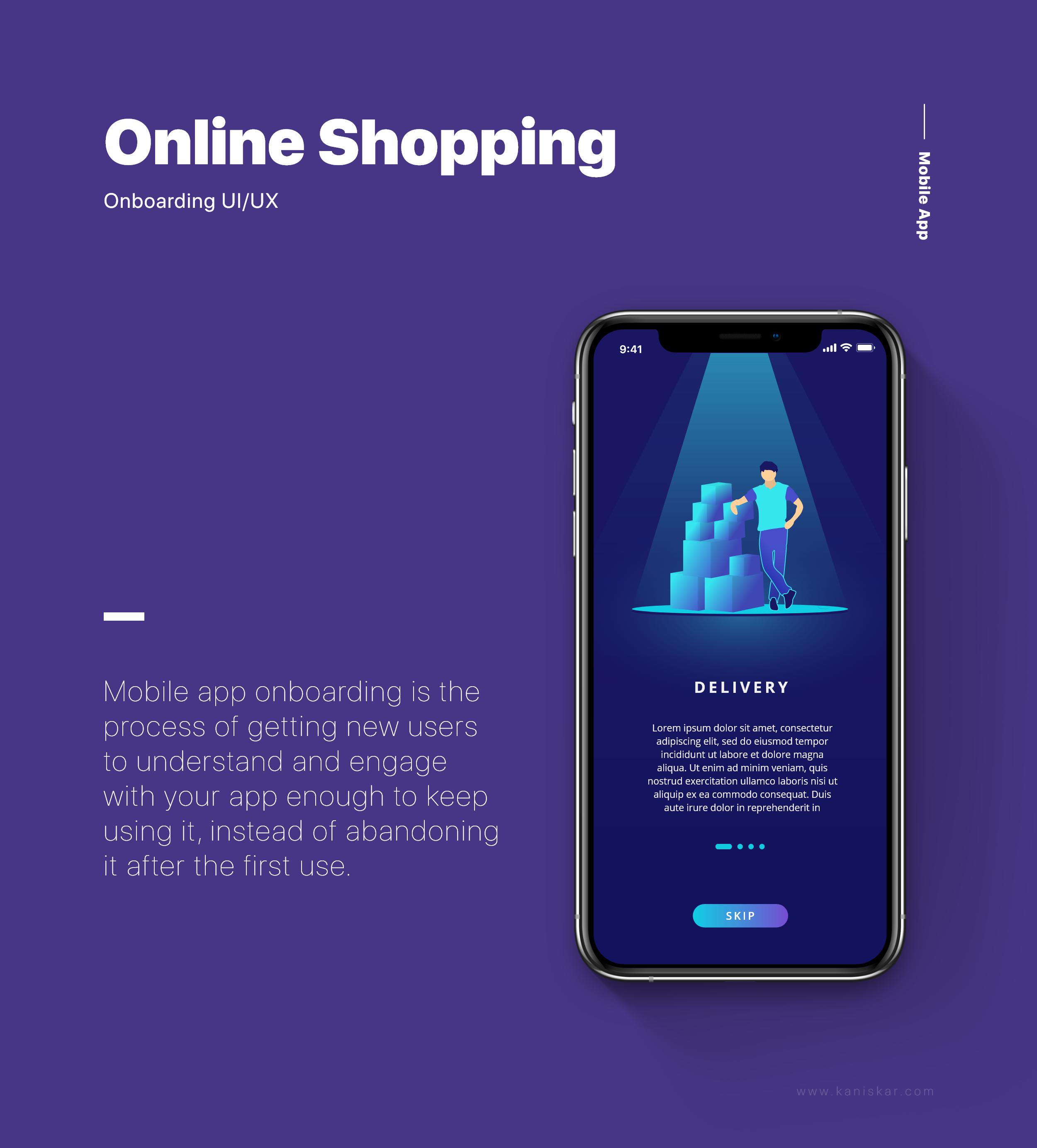 APP引导页插画设计电商类购物类,移动端UI