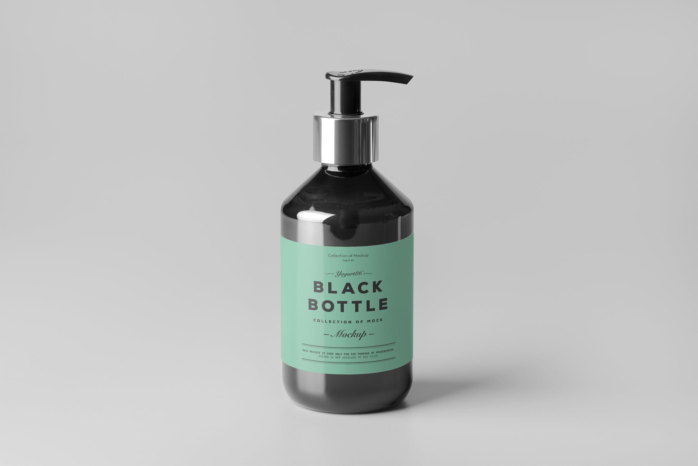 洗化用品粉底盒包装样机模板展示素材Cosmetic Bottle Mock-up 4