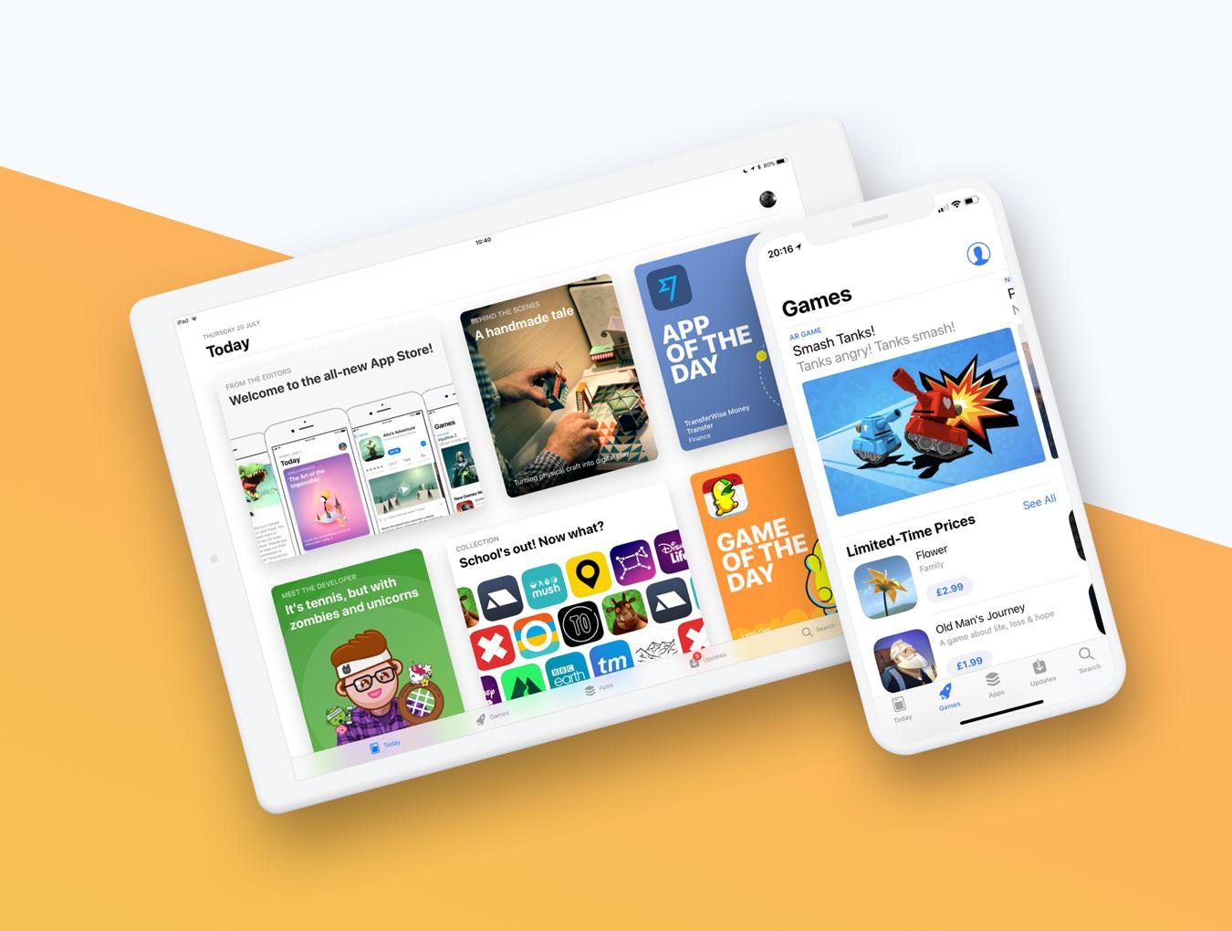 移动端ipad设备作品展示UI界面 苹果iPhone X手机样机模板Smoooth Devices