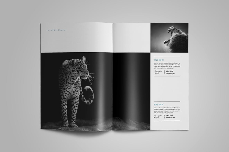 极致简洁版式设计杂志画册模板Simple Magazine Template