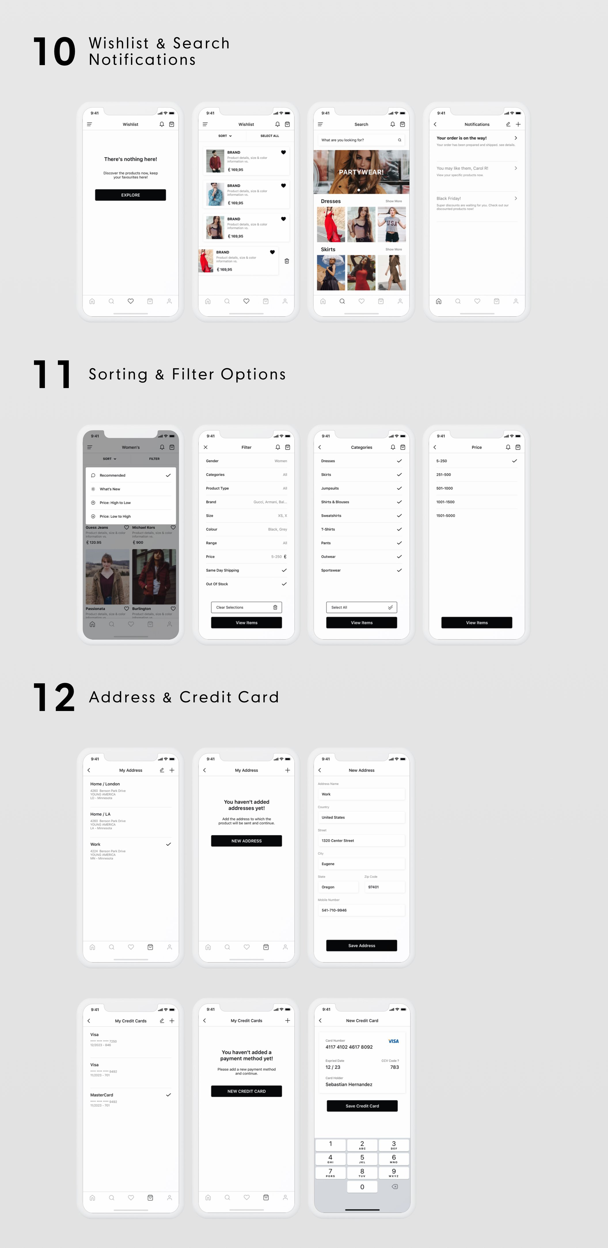 时尚现代移动端服装电子商务APP  ONLY FASHION UI Kit