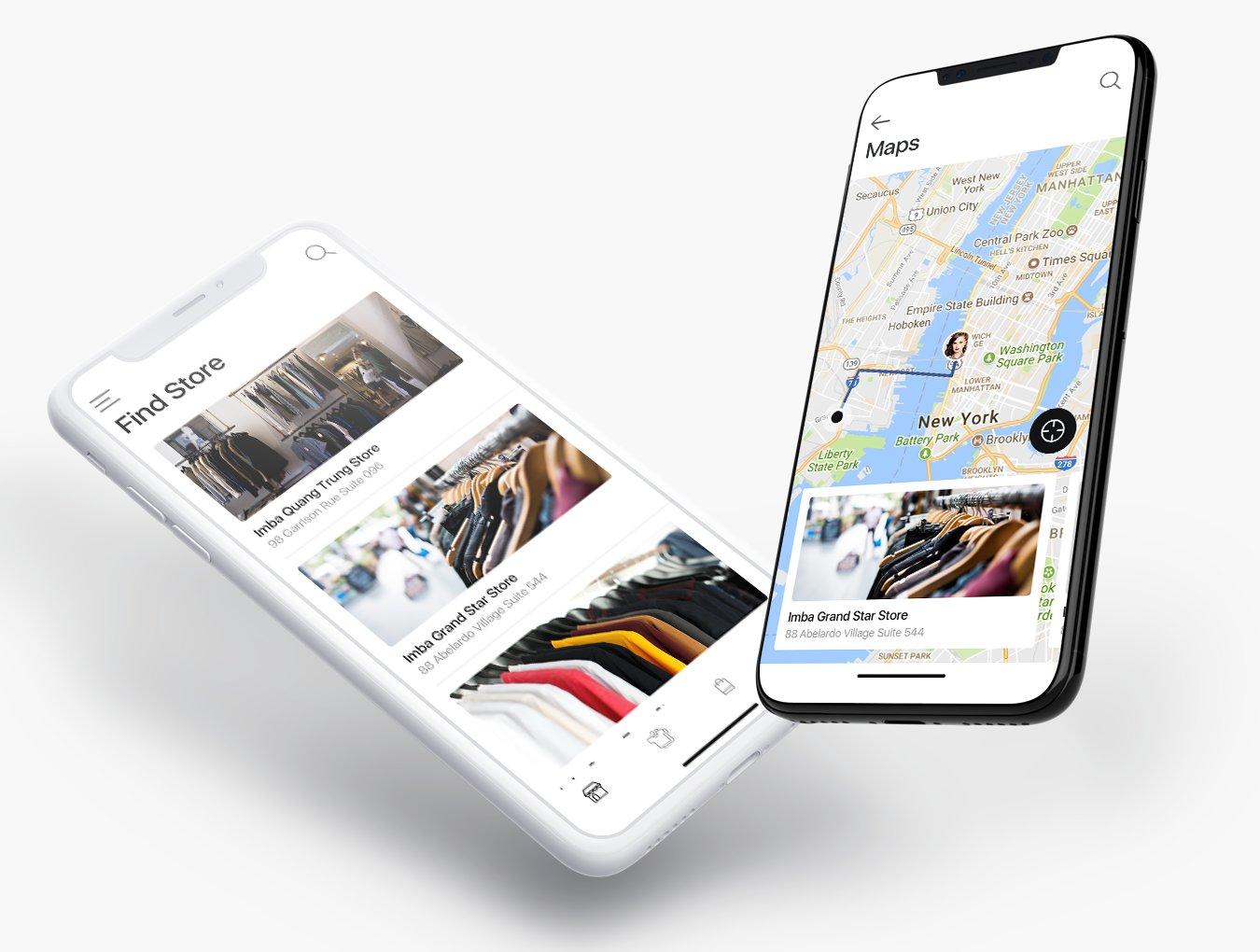 时尚简约服装购物网站电商APP UI Universal Web UI Kit
