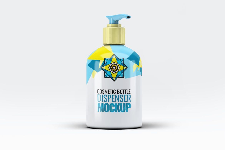 化妆品瓶极致简洁图形样机素材模板素材Cosmetic Bottle Dispenser Mock-Up V.3