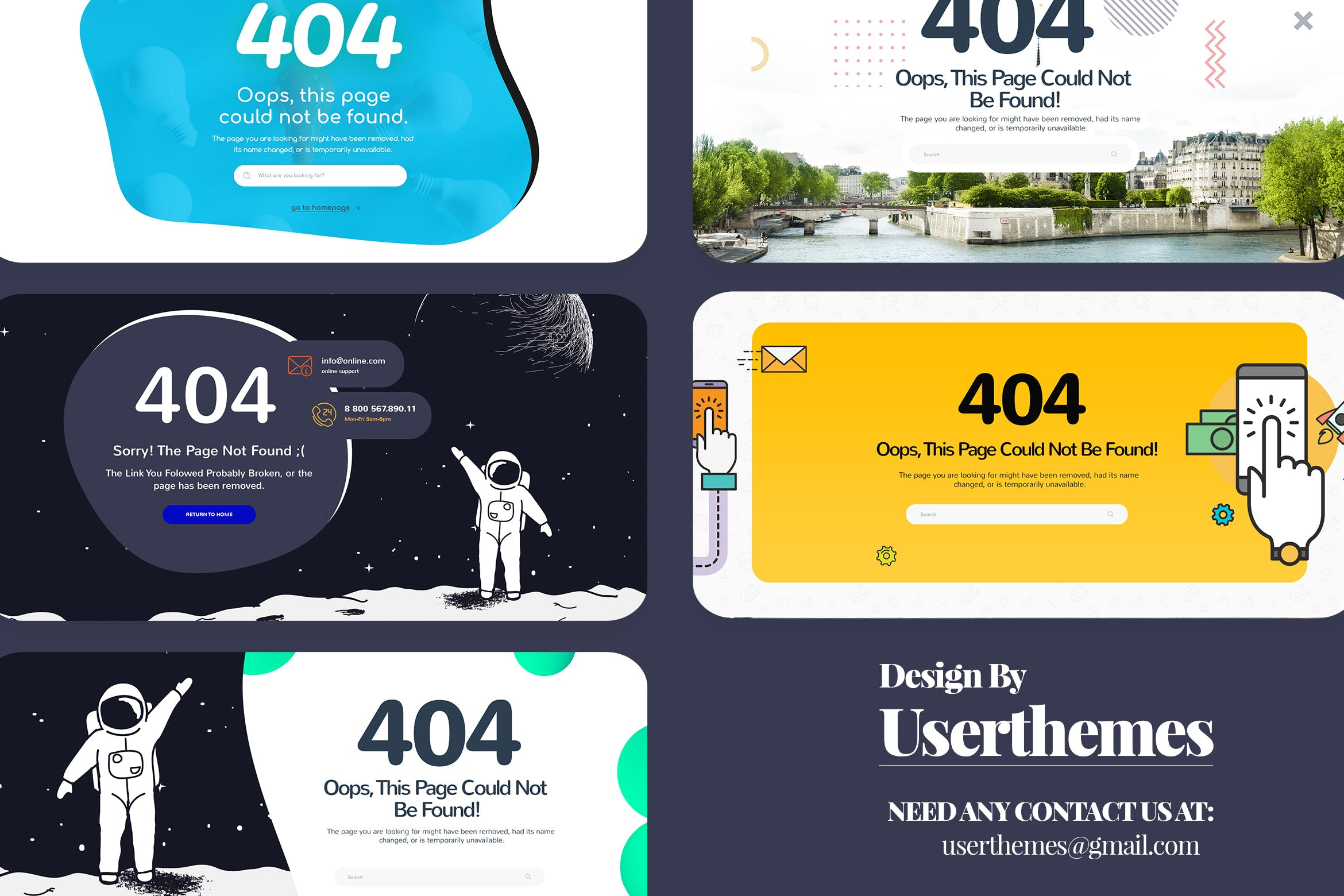WEB端创意404界面UI Ultimate Creative 404 Pages Website Template