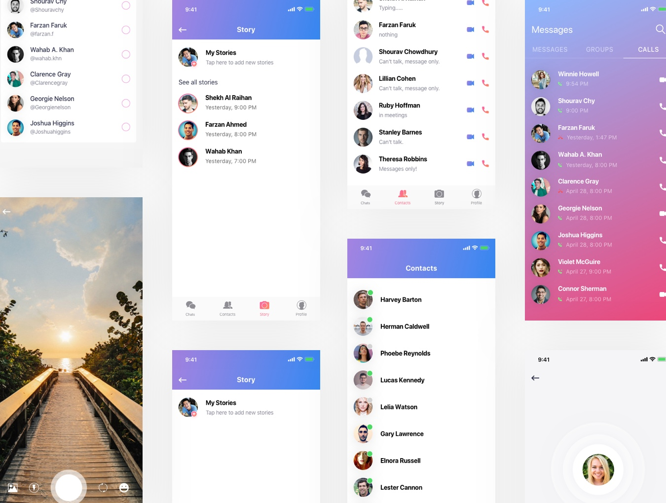 一款IOS风格信息交流APP Message iOS UI Kit