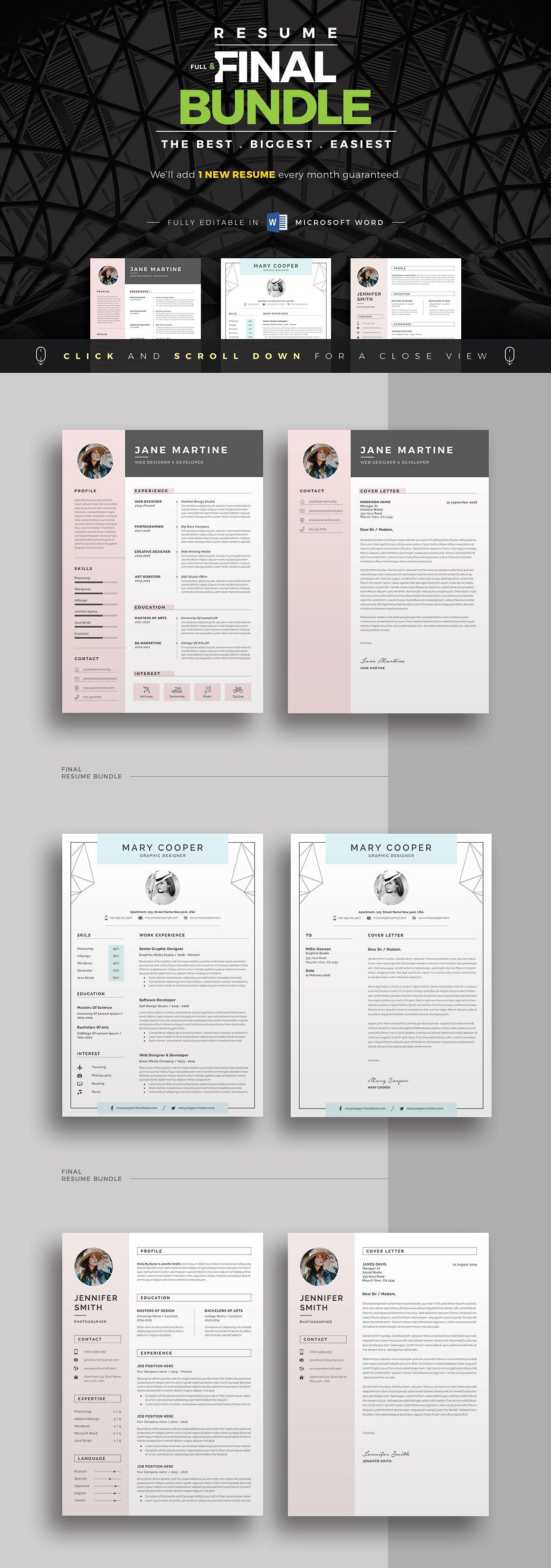 (大合辑)高品质简历设计套装 ResumeCV Full Final Bundle