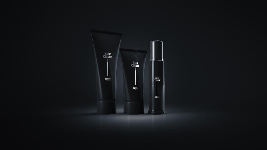 洗化用品包装盒样机素材模板 智能贴图样机素材Cosmetic Mock-up