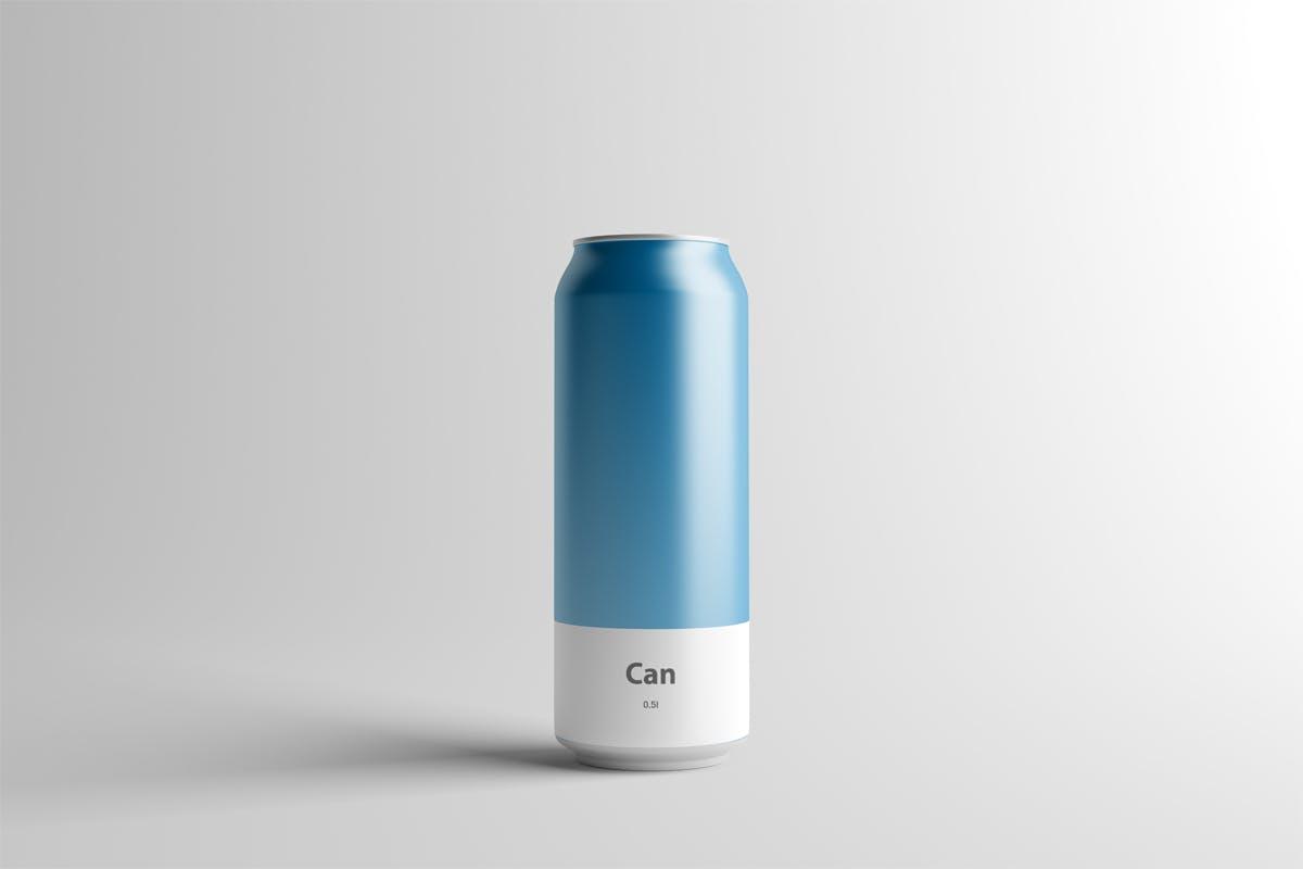 啤酒易拉罐饮料瓶包装样机模板展示样机素材Can Mock-Up - 500ml