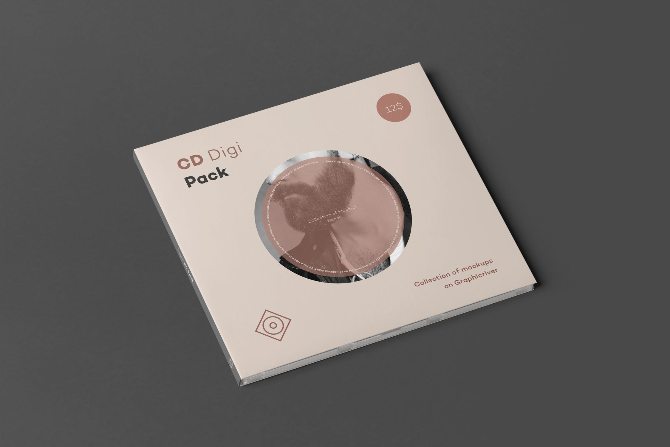 CD唱片样机包装素材多角度展示模板CD Digi Pack Mock-up 2