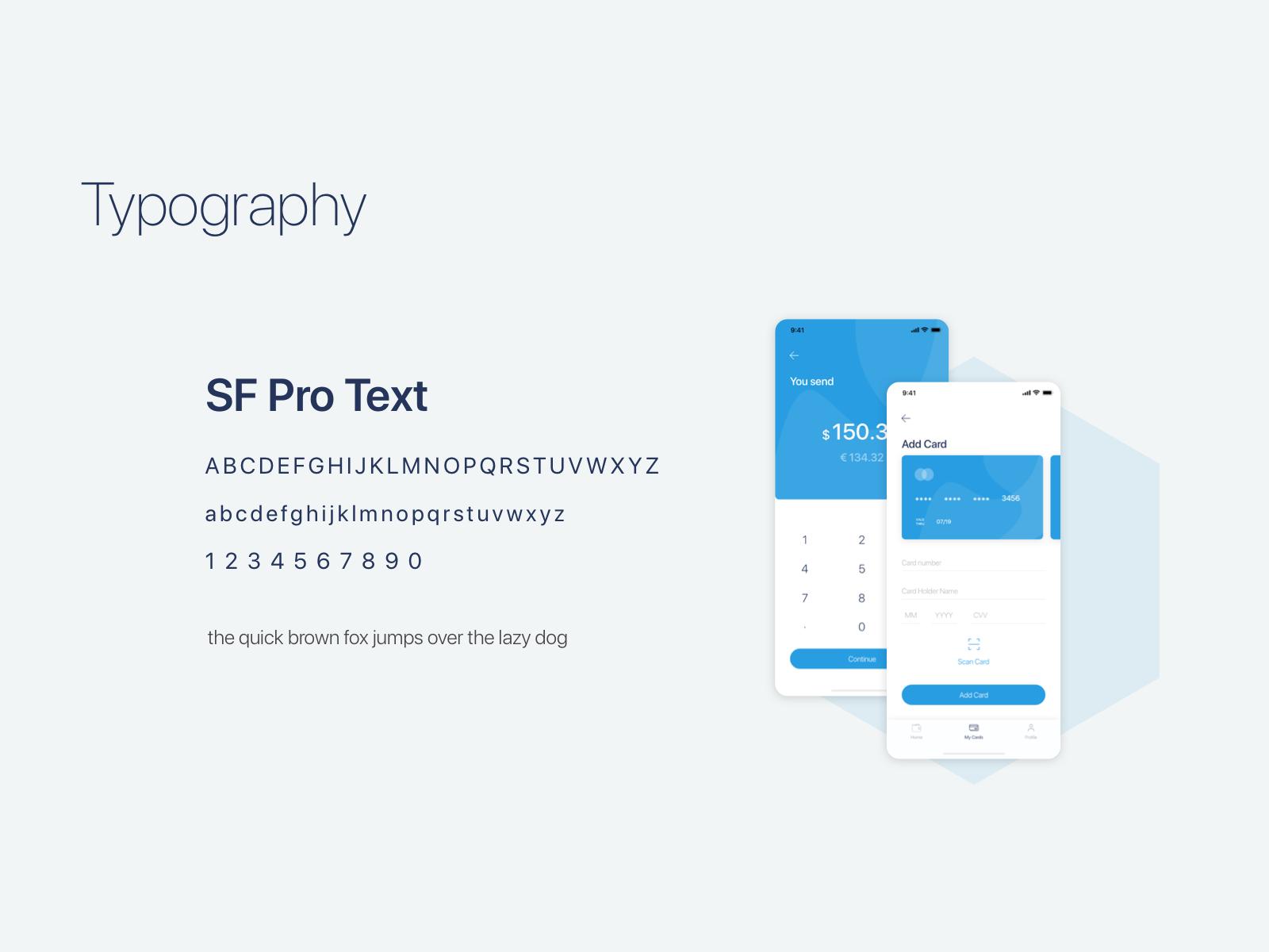 金融钱包APP展示Simple Wallet App UI UX Kit