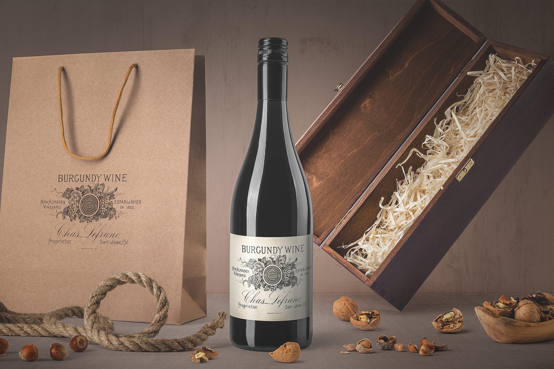 白葡萄样机展示效果  场景样机模板Wine Bottle Mockups Vol. 4