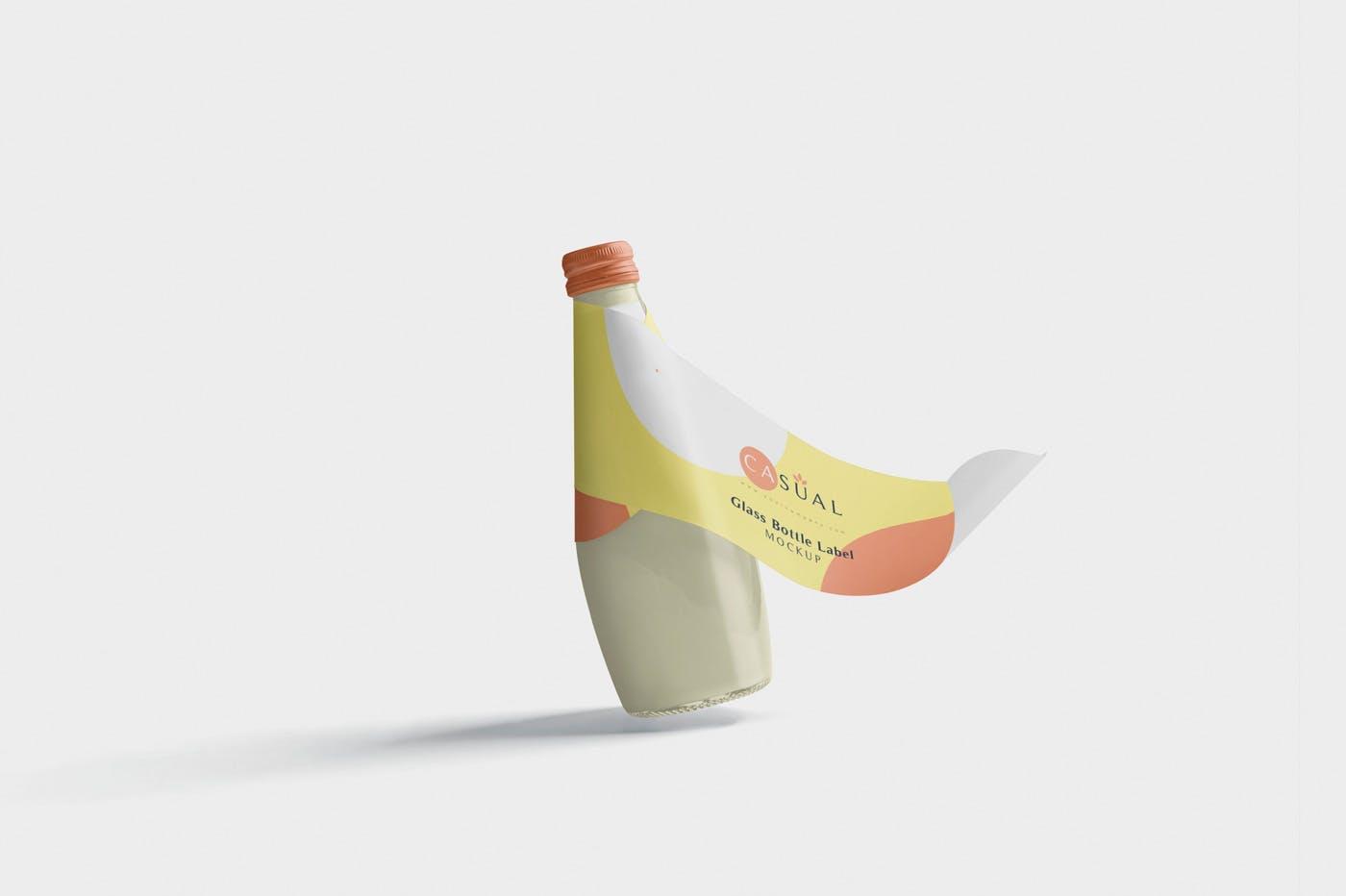 沙拉酱番茄沙司   食品包装罐样机模板展示素材Glass Bottle Label Mockups