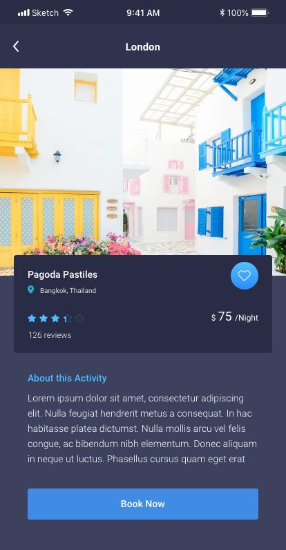 旅游行业APP Travel App UI KIT for Photoshop