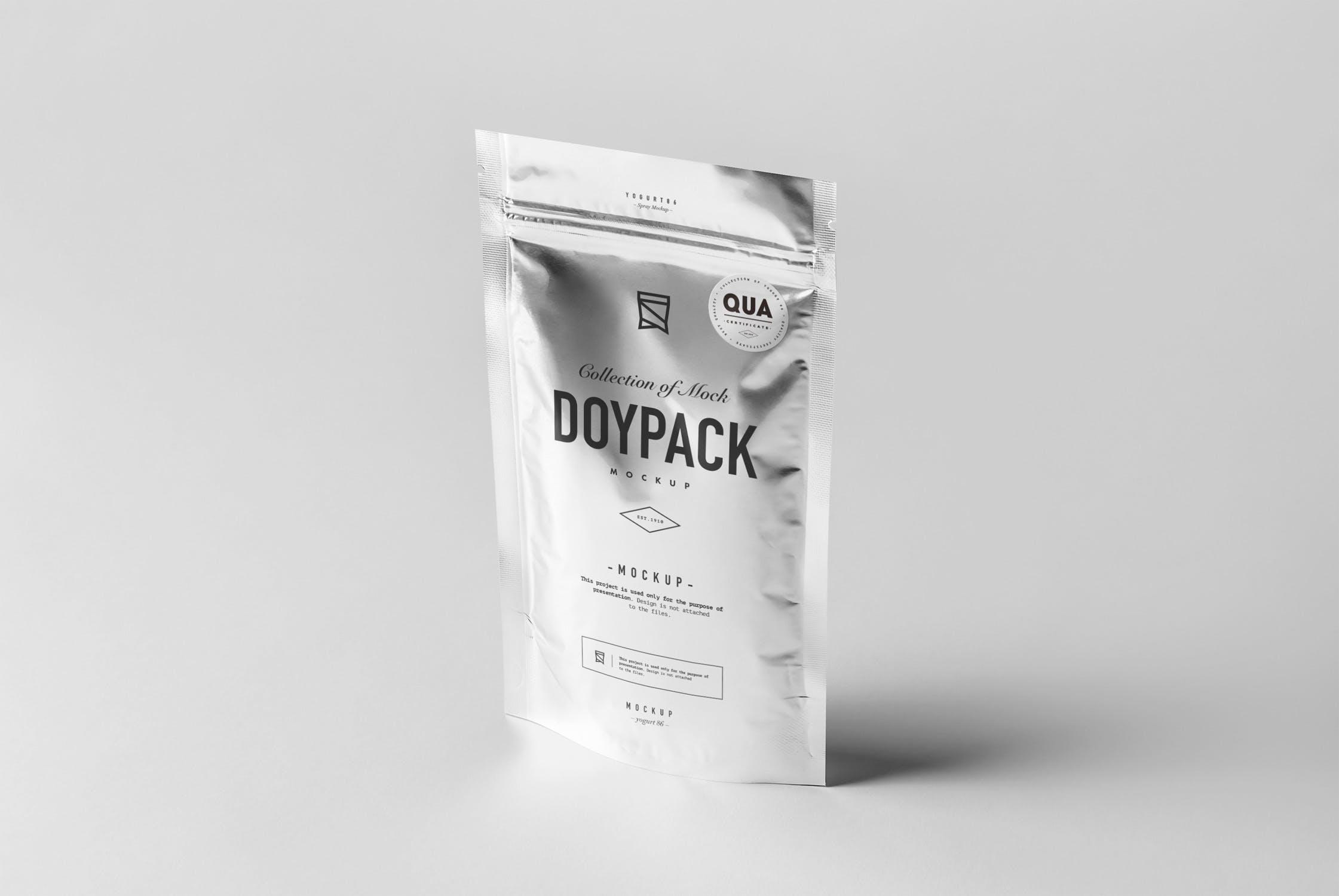 食品自封袋样机模板展示样机素材 Doypack Mock-up 4