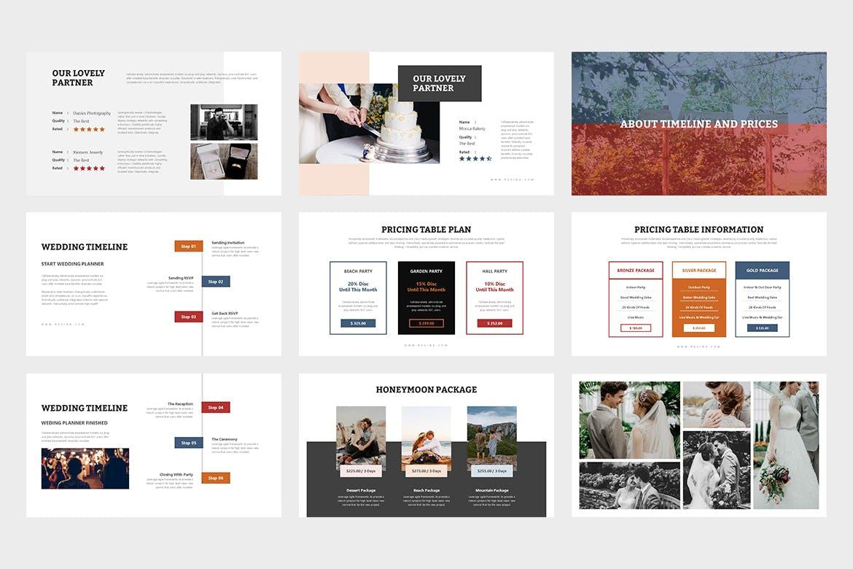多用途商务PPT模版 Ruvina -Wedding Ceremony Planner Google Slides