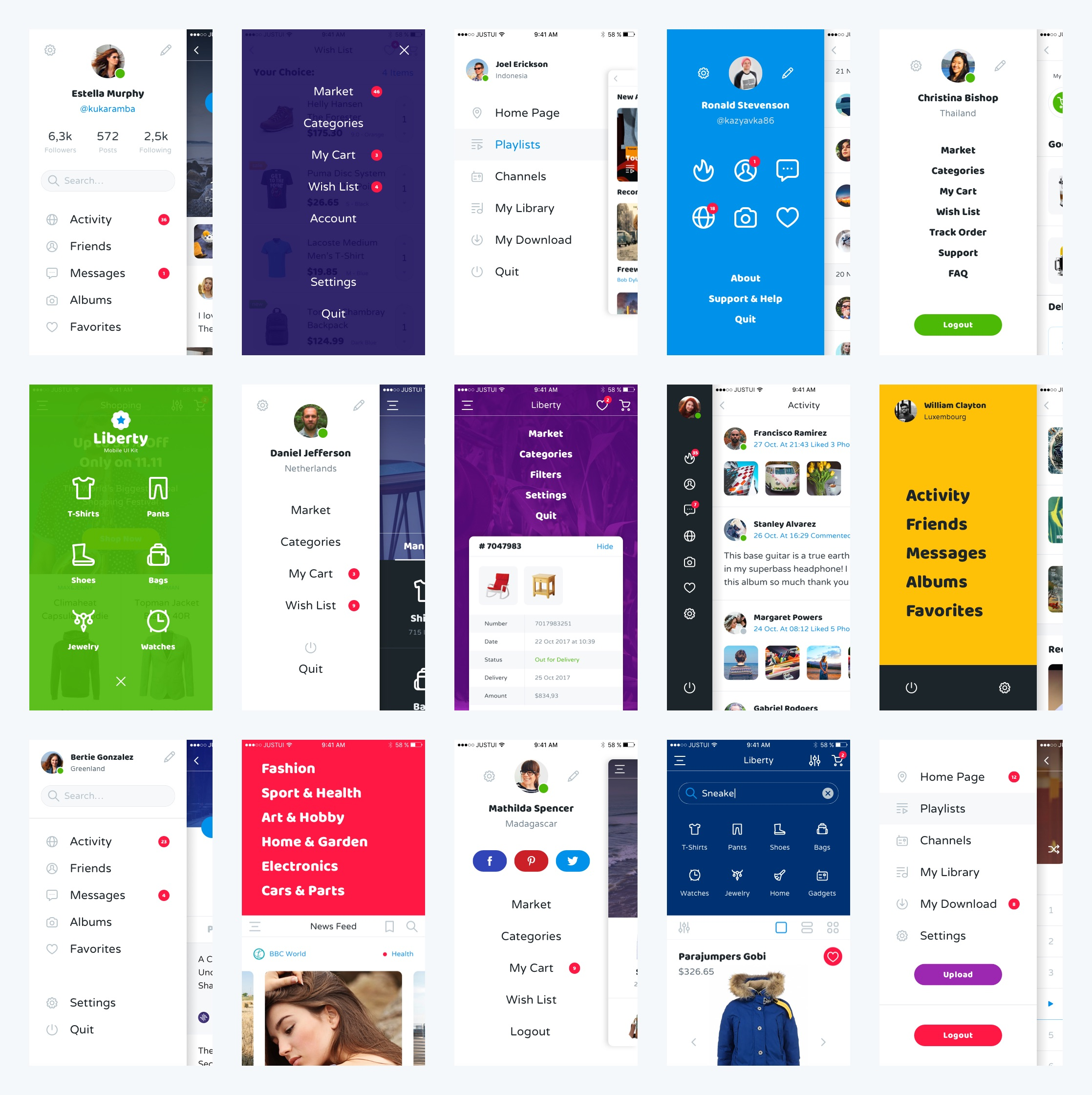 一款电商类APP Liberty Mobile UI Kit