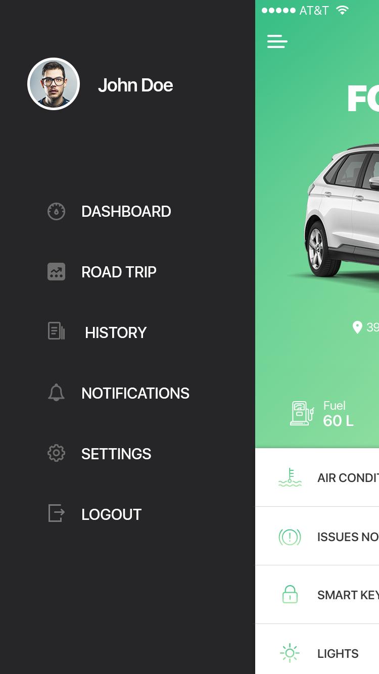 一款绿色车辆服务行业应用APP VEHICLE APP UI