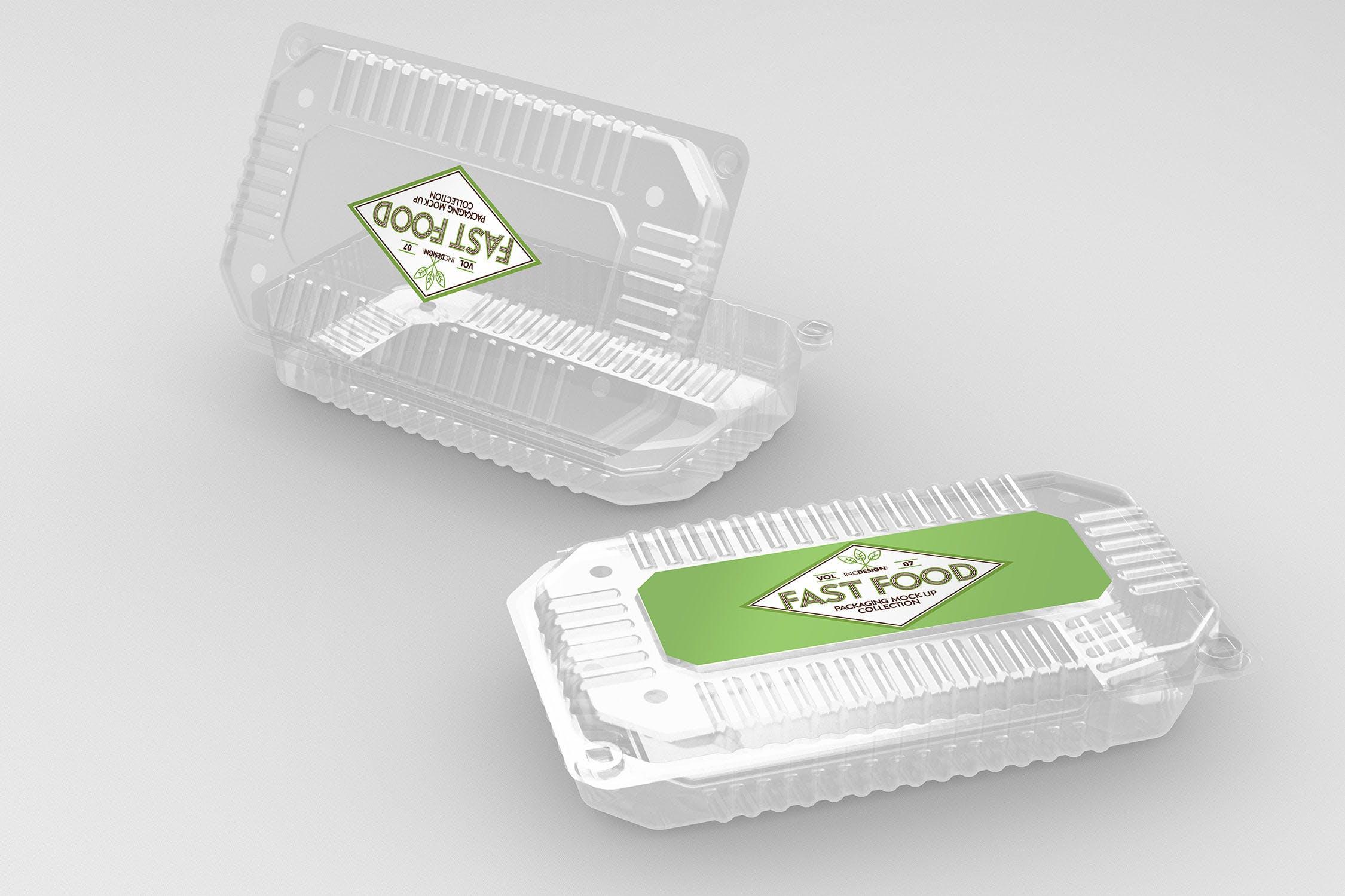 多品类快餐盒  甜点模板样机素材展示Fast Food Boxes Vol 7 Take Out Packaging Mockups插图(2)