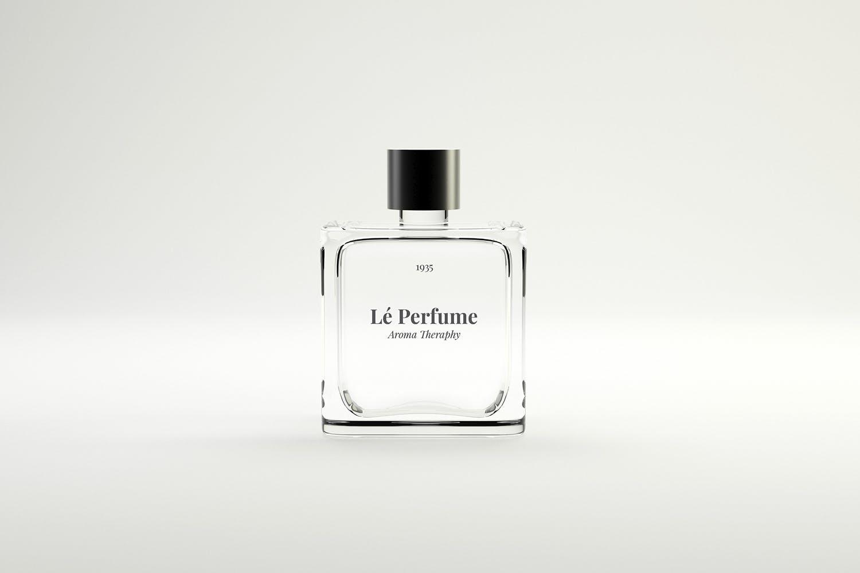 女士高端品牌香水包装样机  素材玻璃瓶Perfume Mockups