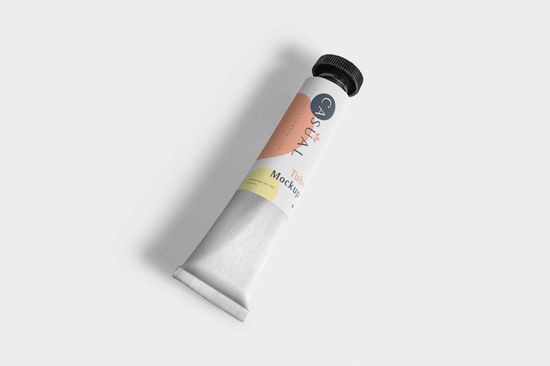 金属奶油管样机 多角度样机展示Metal Cream Tube Mockups