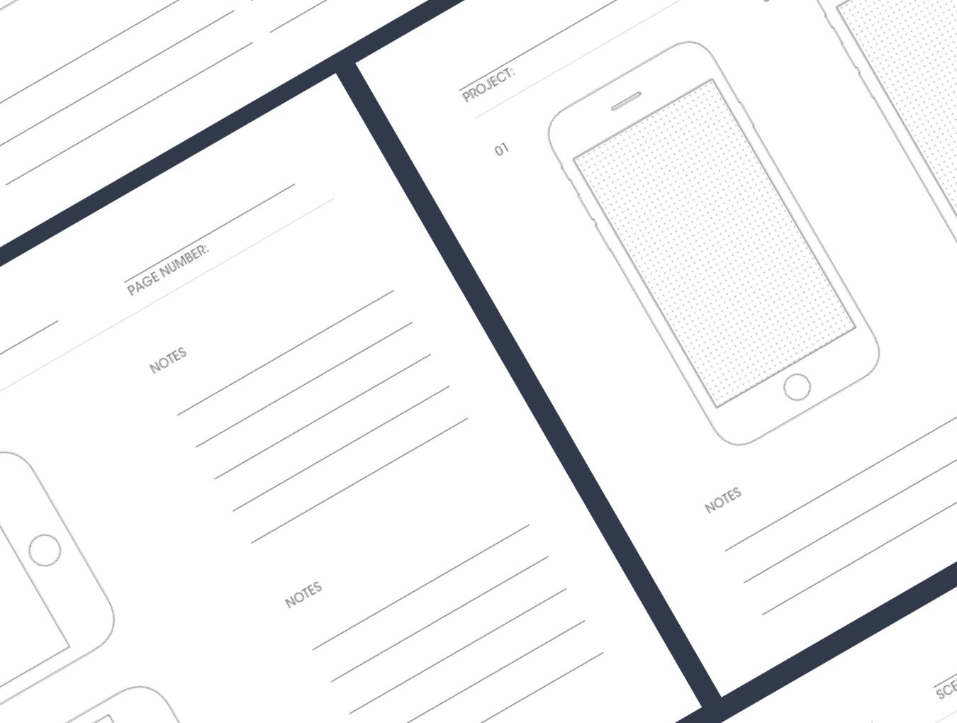 IPHONE线框图UI套件 UX Sketchbook Volume 2