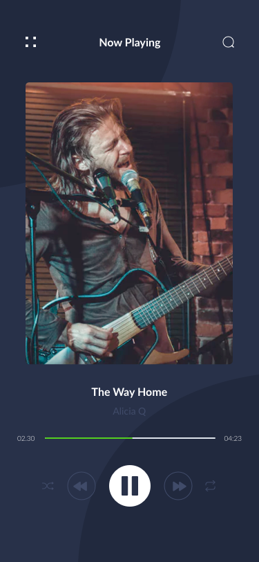 深色IOS风格音乐APP Music Audio Play App UI KIT for Photoshop