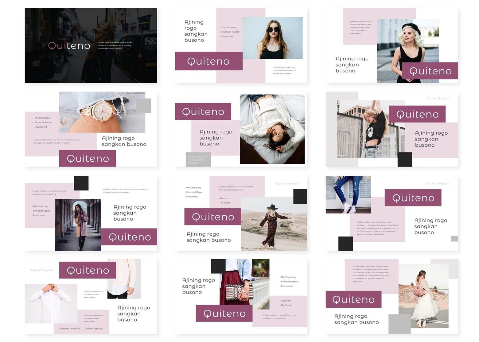时尚女性Keynote模板 Quiteno - Keynote Template
