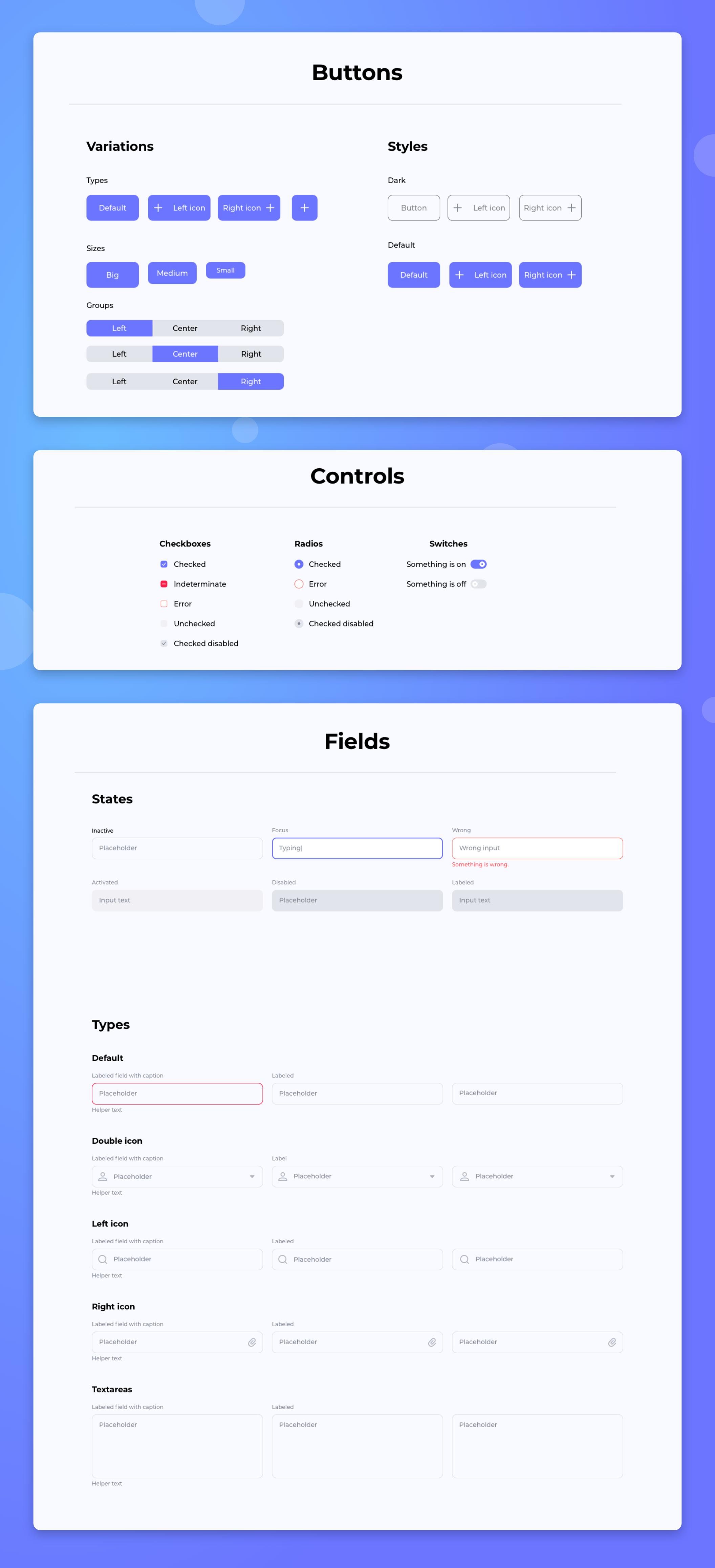 WEB端网页设计简约风格UI组件套件  Muze Design System
