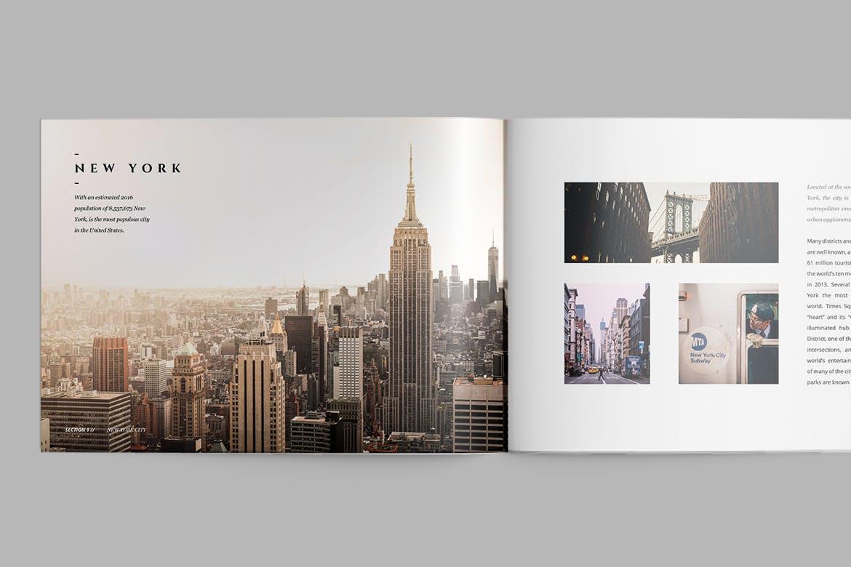 旅游出行城市杂志画册模板 素材magazine-TRFTNT